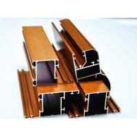 China Wood Grain Aluminium Sliding Door Profiles 6063 - T5 By Bending / Cutting wholesale