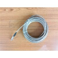 Quality 5.2mm 7x19 Galvanized Steel Wire Rope Cable With Thimble Bright Coating for sale