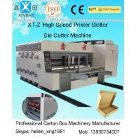 China Water Ink Printing Slotting Flexo Printer Slotter Machine With Stacker wholesale