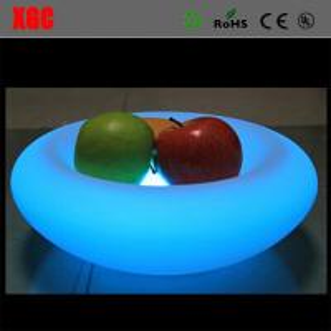China 2017 New Plastic Colors Change Led Light RGB Colors Change Fruit Plate wholesale
