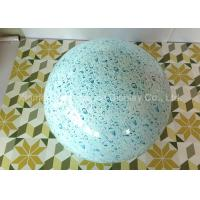 China Round Ball Shape Fiberglass Resin Statues Decorative Water Transfer Printing wholesale