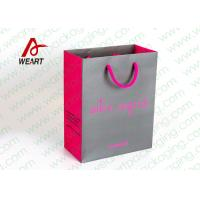 China Grey & Pink Coloured Paper Gift Bags For Weddings 210gsm Material wholesale