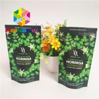 China Stand Up Ziplock Plastic Pouches Packaging Aluminum Foil Lined Matcha Powder Green Tea Bag wholesale
