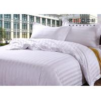 China 250TC Colorful School Hotel Collection Bedding Sets Queen Size Plain Stripe Design wholesale