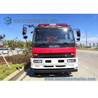 China ISUZU 4 x 2 FVR Fire Rescue Vehicles 6000L Water / Foam Tank For Petrochemical Industry on sale