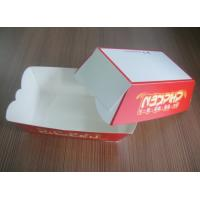 China Red Fast Food Paper Box For Food On The Go , OEM Logo Printed wholesale
