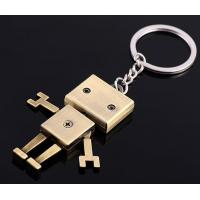 China Robot  Metal keychain wholesale