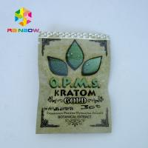 China Kratom Herbal Incense Bag Packaging With Zip Lock , Herbal Incense Bag wholesale