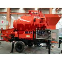 China JBT30 30m3/Hr Trailer Hydraulic Electric Power Concrete Mixer Pump with 450L mixing Drum wholesale