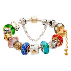 China Fashion Beautiful Silver Wholesale Charm Glass Beads Bracelet wholesale