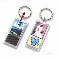 China Solar-powered Waterproof Flash LED Keychain Lights wholesale