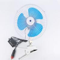China Blue Electric Car Cooling Fan 12v / 24v Screw Mounting Plastic Material wholesale