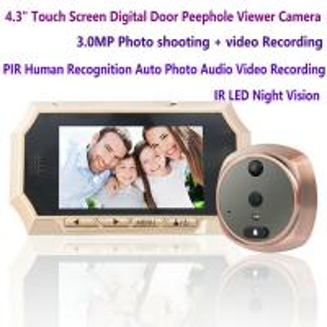 "China 4.3"" Digital Door Peephole Viewer Photo Video Camera Recorder Night Vision Door Eye Smart PIR Doorbell Intercom System wholesale"