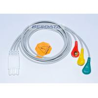 China 3 / 5 / 7 Leads Snap Ender ECG Cables And Leadwires For Patient Monitoring System wholesale