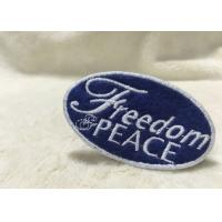 Beautiful Oval Custom Clothing Patches Embroidered Sew On Badges Eco - Friendly