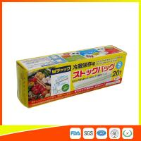 China Vegetable Fresh Keeping Freezer Zip Lock Bags  , Plastic Zip Storage Bags wholesale