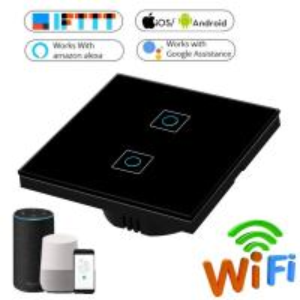 China 1/2/3 Gang Wireless Touch Switch 220v, Wifi Wall Touch Sensor Switch EU Standard Wireless Wifi Smart Home Led Switch on sale