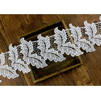 China Leaf Guipure Polyester Lace Trim With Water Soluble Reach L4 High Color Fastness wholesale