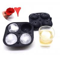 China Mini Diy Silicone Ice Ball Molds Set Round Shape 5.6CM Diameter For Drinks wholesale