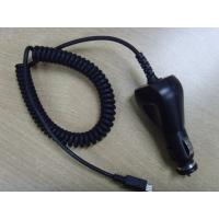 China 5V1A Coil Cable Car Charger with Micro USB , CE/FCC/e-mark approved Black for Samsung ,HTC on sale