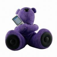 China Mobile Phone Mini Speaker, Teddy Bear Design, CE/RoHS Mark, Approved for MP3/MP4/Mobile Phones/PCs wholesale