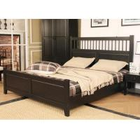 China Dark King Size Solid Wood Bed Frame Safe Nontoxic Environment - Friendly For Hotel wholesale