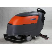 China Two 13 Inch Brush Commercial Floor Cleaner Machine Walk Behind With Dryer wholesale