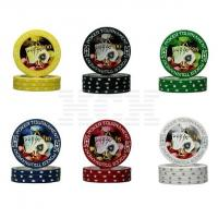China Two Tone Clay Poker Chip-Hologram Sticker (0104-0215) on sale