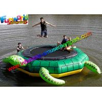 China Turtle Jump 15-Foot Water Trampoline, Inflatable Floating Water Toys / Jumping Pad wholesale