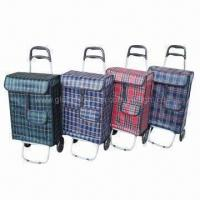 China EVA Wheel Shopping Carts, Made of PE Fabric, Suitable for Shopping and Travel, Cheap in Prices wholesale