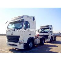 China Howo A7 420 hp Engine and Two Sleepers Tractor Head Trucks Right Hand Driving Type wholesale