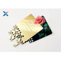 China Mirror Acrylic Gifts , Acrylic Invitation Card With Custom Shape For Wedding / Party wholesale