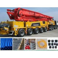 China Hydraulic Rubber Hose Concrete Pump Rubber End Hose 85 Bar Working Pressure on sale