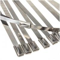 China 201 Fire-proof self-lock Stainless Steel Cable Ties- Ball-Lock Ties wholesale