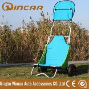 Quality Aluminum Folding Beach Cart / surf fishing Cart Kayak Trolley for sale