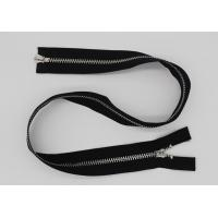 China Black 5 Inch Non - Lock Sliders Two Way Metal Zip For Coveralls / Traveling Bag wholesale