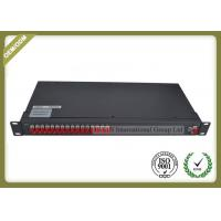 "China 19"" 1U Rack Mounted Optical Plc Splitter 1x16 Cold Rolled Steel Material wholesale"