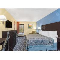 China Simple King / Twin Size Hotel Bedroom Furniture Set With Headboard and TV Table wholesale