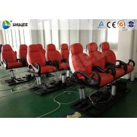 Quality Red Color Luxury Seats 5D Movie Theater For Mobile Truck / Museum / Park for sale