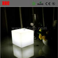 China Plastic Made Cube Shape Glowing Living Room Bed Side Table wholesale