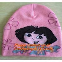 China 100% cotton, Oversize Knit Cap for children, pictures of knit caps for children, knit hats on sale