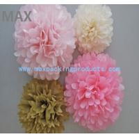 China Chinese Popular Colorful Hanging Paper Flowers Balls,Colorful Paper Pom Poms Flower Balls wholesale