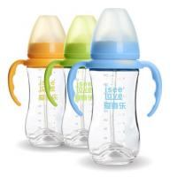 China 240ML Unbreakable Glass Baby Sipper Water Bottle Blue Pink Yellow Color Available wholesale