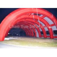 Quality Outdoor 40x20m Red Archway Inflatable Sport Air Tent with CE Blowers for sale