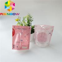 China Menstrual Cup Stand Up Pouch Heat Sealed Microwave Sterilizer Bag With Clear Wind wholesale