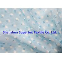 China Blue Color GGT Jacquard Swiss Dot Polyester Chiffon 2400T 75D wholesale