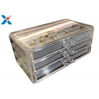 China Clear Acrylic Makeup Organiser , Acrylic Jewelry Display Box With Velvet wholesale