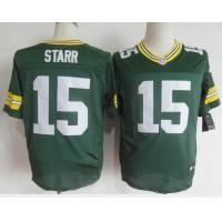 China Nike NFL Green Bay Packers #15 Bart Starr green Elite jersey wholesale