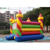 China Colorful Birthday Party Inflatable Jumping Castles in Candy Shape , Red / Green / Yellow / Blue wholesale