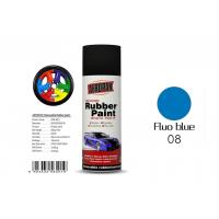 China Fluo Blue Color Removable Rubber Spray Paint , Peelable Car Paint Grade 2 Adhesion wholesale